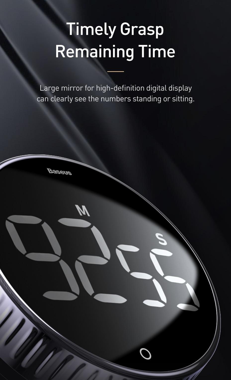 Baseus LED Digital Kitchen Timer For Cooking 6
