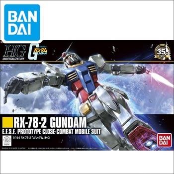цена на Japaness Bandai HG 1/144 Gundam Model RX-78-2 Ready Pleayer One RIKU'S MOBILE SUIT Super Robot Unchained Mobile Suit Kids Toys