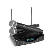 G MARK UHF 무선 마이크 시스템 G320 장거리 듀얼 채널 2 핸드 헬드 마이크 송신기 전문 가라오케 최고 품질