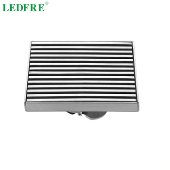 LEDFRE 304 stainless steel shower floor drain large drainage insect proof/odor-proof for bathroom bathtub accessorie