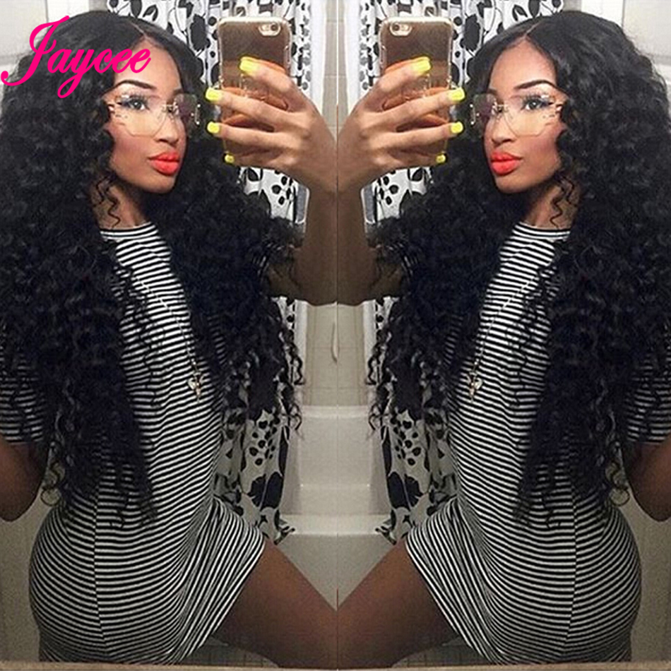 Brazilian Deep Wave Bundles With Closure 4*4 Tissages Bresilien Human Hair Extensions Brazilian Hair Weave Bundles With Closure