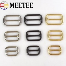 Meetee 5/10Pcs 25/32/38mm Metal Bag Buckle for Belt Outdoor Backpack Dog Collar Webbing DIY Sewing Accessories BD263