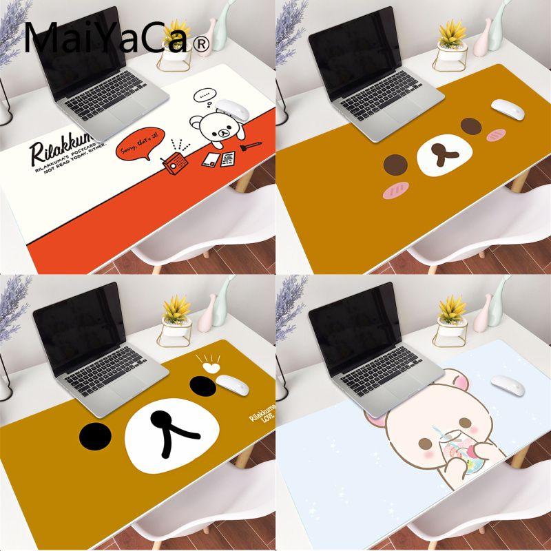 MaiYaCa Custom Skin Korilakkuma Rilakkuma Rubber Pad to Mouse Game Gaming Mouse Pad Large Deak Mat 700x300mm for overwatch/cs go