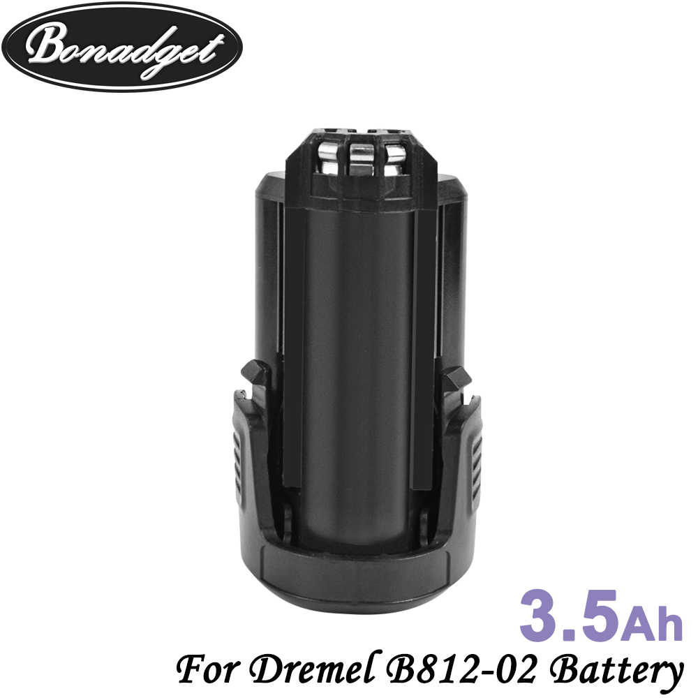 Bonadget 2 قطعة 12 فولت 3500 مللي أمبير ليثيوم أيون بطارية قابلة للشحن ل دريمل B812-02 8200 8300 B812-01 استبدال بطارية أدوات كهربائية