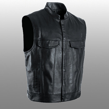 PU Vests Men Sleeveless Jacket Vest Male Streetwear Lether Punk Hip Hop Black 2019 New Brand Motorcycle Waistcoat Jackets Coats 1
