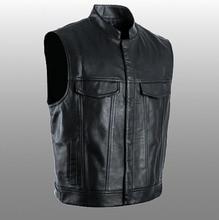 PU Vests Men Sleeveless Jacket Vest Male Streetwear Lether Punk Hip Hop Black 2019 New Brand Motorcycle Waistcoat Jackets Coats