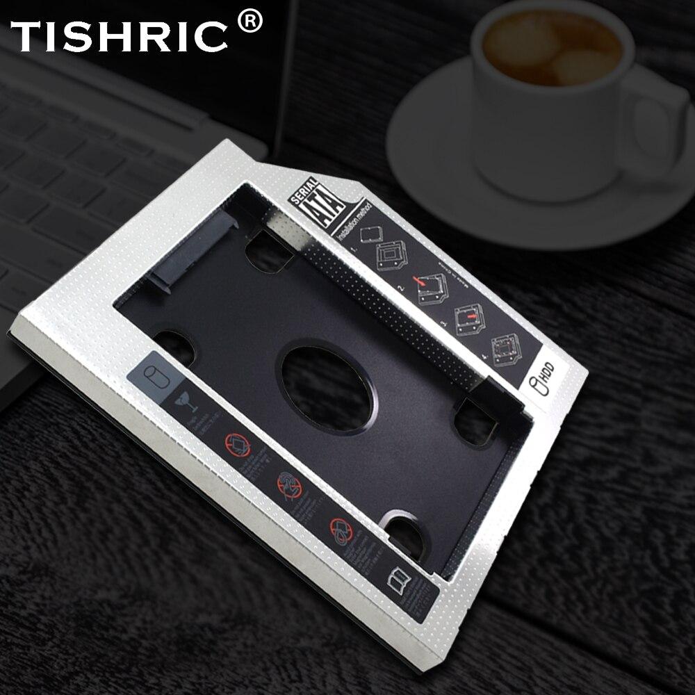 TISHRIC 9.5 12.7mm HDD Caddy Aluminum Universa SATA 3.0 2.5