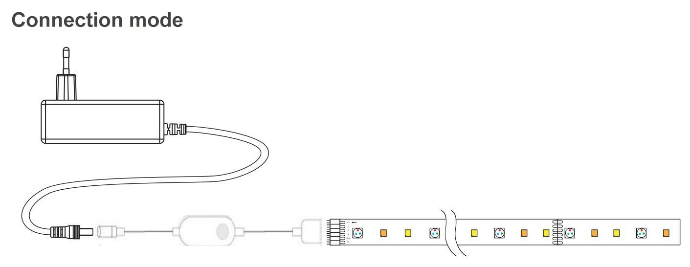 Zigbee rgbcw mini controlador 1-5m dc12v 5050