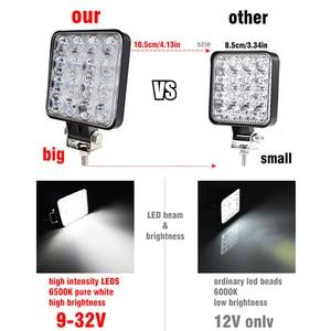Image 3 - OKEEN 4szt listwa led reflektor roboczy 4 calowy 48W Offroad światło robocze 12v światło led do ciężarówki 4x4 uaz led reflektor ciągnika reflektor IP67