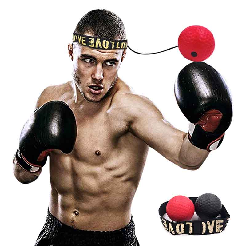 Boxing Reflex Ball Bouncy Fight SpeedBall Level Boxing Ball With Headband Portable Training And Fitness Exercise Equipment
