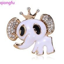 Qiongfu cute alloy animal brooch elephant brooch simple fashion pin cute enamel dress brooch brooch enamel cat cactus pattern brooch