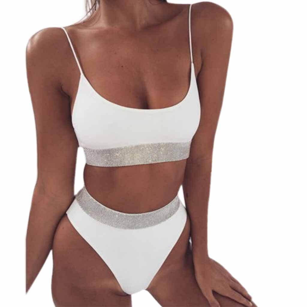 Women Push-up Padded Bikini Sparkling Set Swimwear Swimsuit Bathing Beachwear Bandage Swimsuits Hot Selling Bathing Suit