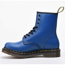 купить 2019 Stylish Women Genuine Leather Boots  Pure Color Ankle Boots Purple Blue  Ladies Boot Flat Motorcycle Boot women boots 2019 дешево