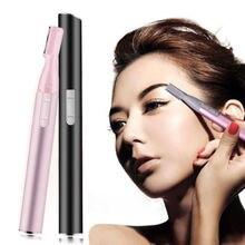 Электрический триммер для бровей безболезненный макияж эпилятор