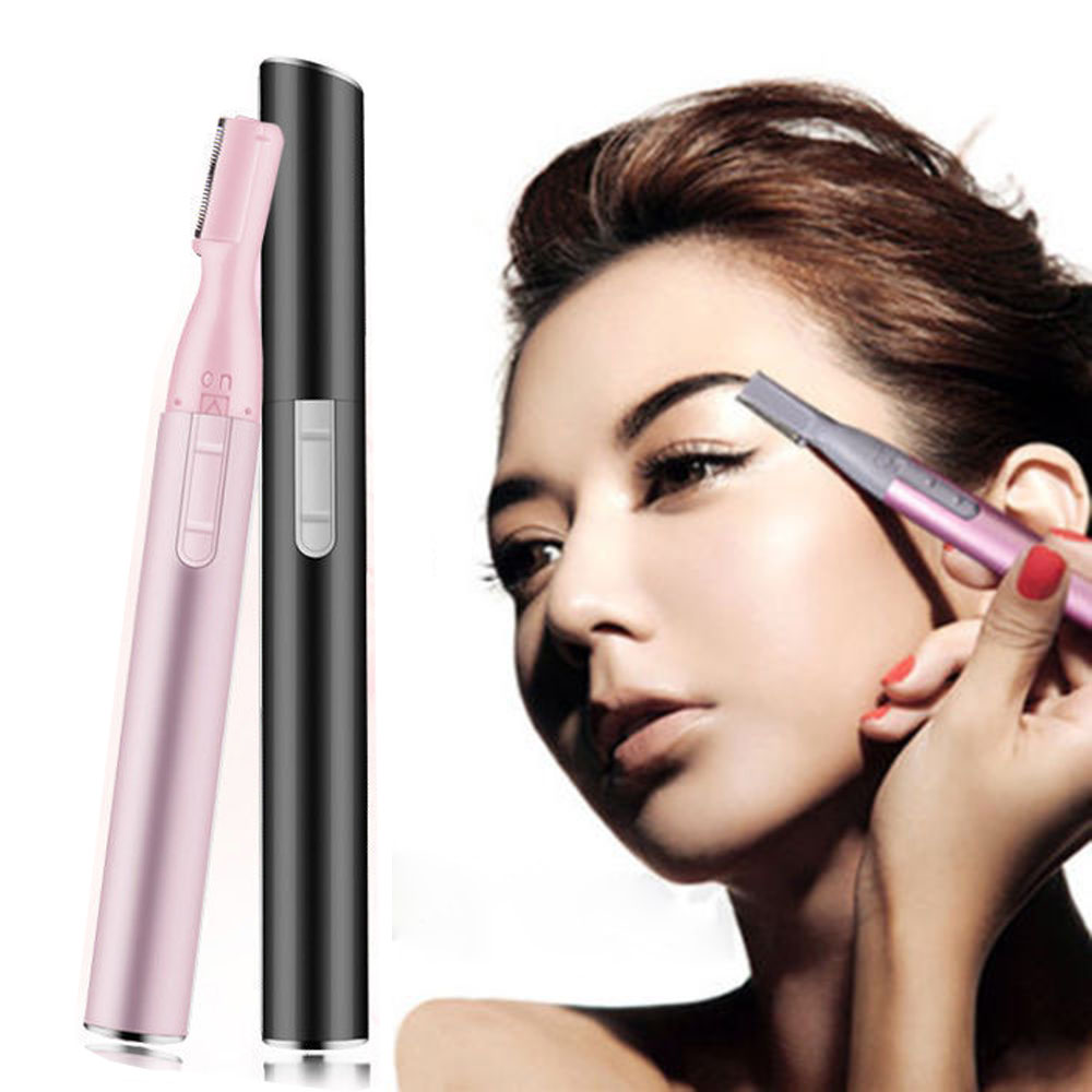 Electric Eyebrow Trimmer Epilator Pen Makeup Eye Brow Epilator Mini Shaver Razors Portable Facial Hair Remover Women Depilator