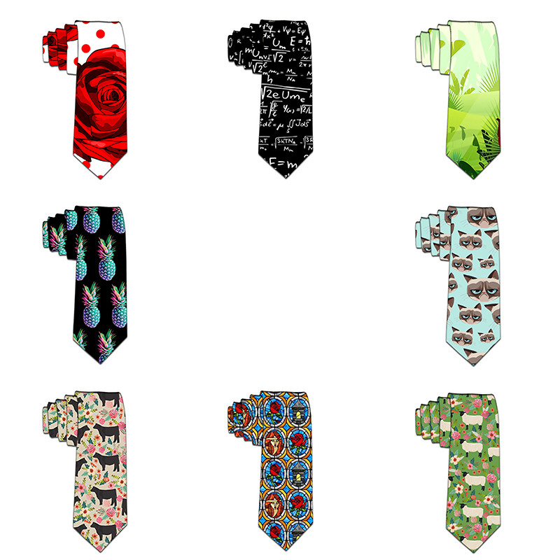 2019 Ties Men's Fashion Tie 8cm Floral Necktie Creative Printed Tie For Men Causal Funny Party Wedding Accessories Gravata 6ZL50