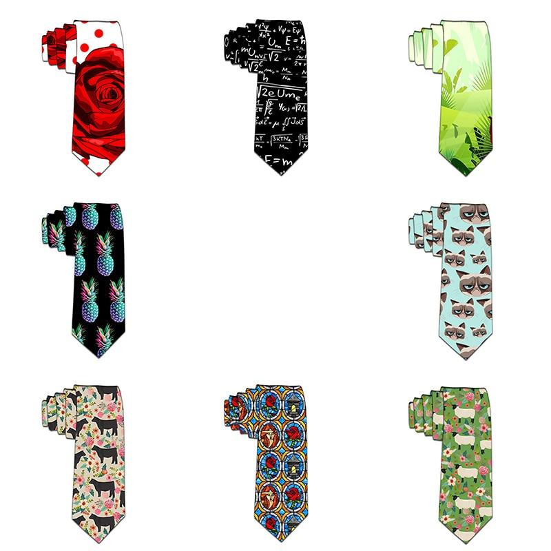 2019 Ties Men's Fashion Tie 8cm Floral Necktie Creative Printed Tie For Men Causal Funny Party Wedding Accessories Gravata 6ZL50