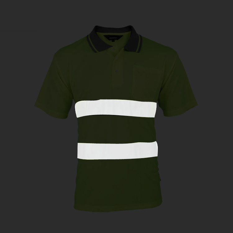 Image 2 - Two Tone Safety Polo Shirt Orange High Visibility Reflective Shirt With Pockets-in Safety Clothing from Security & Protection
