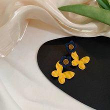 Korean Fashion Girl Butterfly Earrings Geometrical irregular Flowers Stud for women Aesthetic Jewelry Making