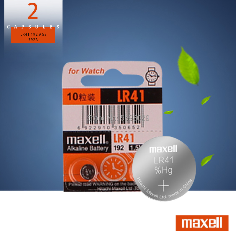 2pcs/lot 100% Original SR41 AG3 G3A L736 192 392A For Maxell LR41 Button Cell Battery 1.5V Lithium Coin Batteries LR 41