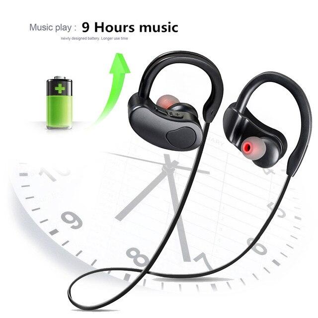 Sports Bluetooth Earphone Wireless Headphones Stereo Headset Earpiece Bluetooth Earbuds HiFI Bass Hands free with mic for ios