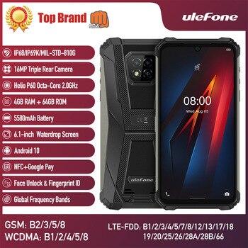 Перейти на Алиэкспресс и купить Ulefone Power Android 8, 10, 4 Гб + 64 Гб мобильный телефон Octa-core 2,4G/5G Wi-Fi 6,1 дюйма Водонепроницаемый смартфон прочный мобильный телефон на процессоре Helio