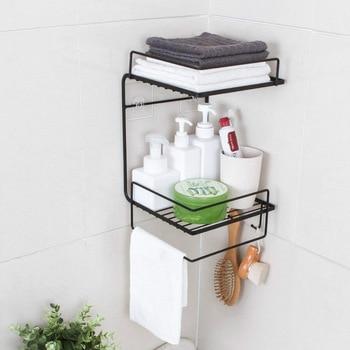 Bathroom racks free of perforation wall-mounted kitchen storage rack bathroom wash rack wall corner storage rack недорого