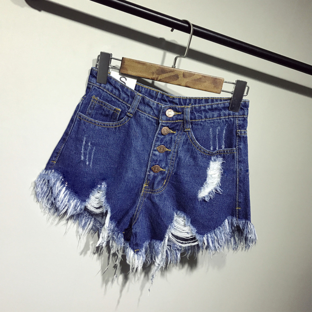 new arrival casual summer hot sale denim women shorts high waists fur-lined leg-openings Plus size sexy short Jeans  2