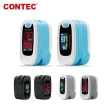 Contec fingertip oxímetro de pulso saturação de oxigênio no sangue spo2 monitor de freqüência cardíaca mais novo