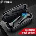 TOMKAS мини TWS Bluetooth беспроводные наушники Freebud водонепроницаемые спортивные наушники с двойным микрофоном для мобильного телефона Flypods