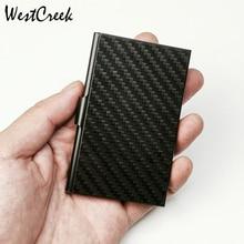 Westcreek Sợi Carbon Slim Kinh Doanh Để Thẻ Thẻ Tối Giản Tín Dụng Chứng Minh Thư Ốp Lưng Kẹp