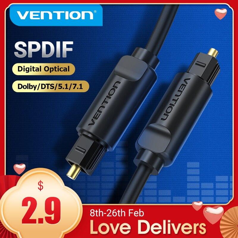 Vention цифровой оптический аудио кабель Toslink SPDIF кабель 1 м 5 м для усилителей Blu-Ray DVD Xbox 360 PS4 Саундбар волоконный кабель