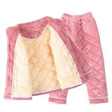 Детский зимний пижамный комплект, модная зимняя детская фланелевая плотная теплая одежда для сна для девочек, От 2 до 12 лет одежда