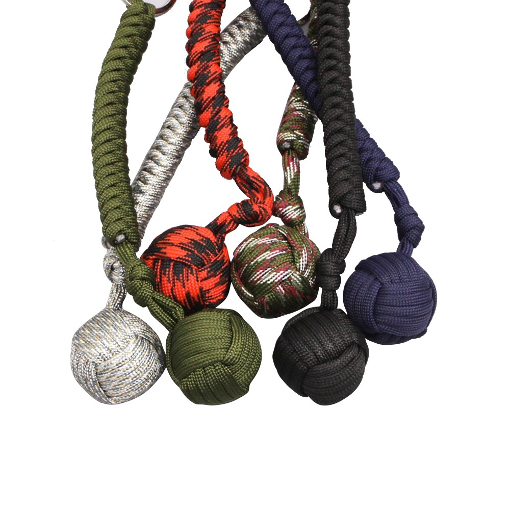 Outdoor Security Self Protection Fist Steel Ball Survival Key Chain For Girls