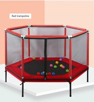 Indoor Removable Kids Hexagon Trampoline Family Toy Small Bouncing Bed Household Jumping Bounce Bed With Protecting Wire Net
