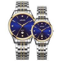 Luxury Brand France AILUO Couple's Watch Japan MIYOTA Quartz Movement Women's Watches Ultra thin Sapphire Female Watches A7075L