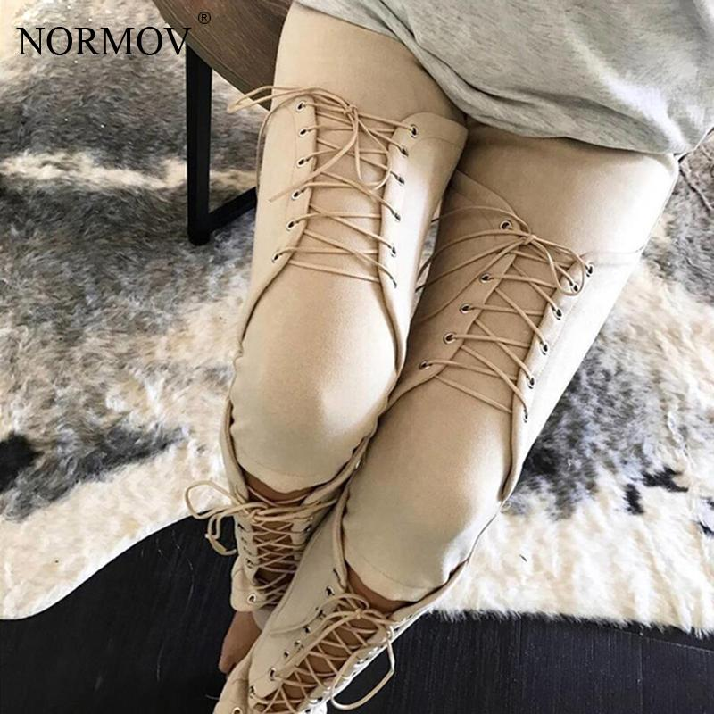 NORMOV Suede Bodycon Bandage Pants Women Sexy Slim Club Party Trousers Women Ladies Pencil Pants Autumn Winter Legging