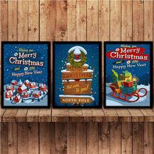 Праздничное украшение для дома с Рождеством и новым годом настенное