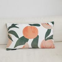 New Nordic peach print suede with filler bedding pillow Car accessories cute bolster pillow Cervical fashion headrest big pillow