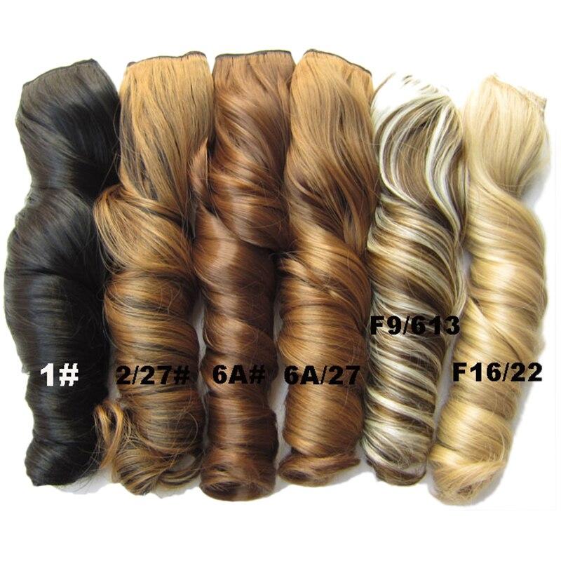 Similler 5 klipów faliste włosy Clip In Extension One Piece włosy syntetyczne High Tempreture Hairpiece dla kobiet 130g różowy czerwony fioletowy