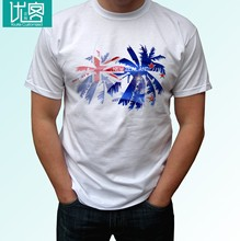 New Zealand palm flag - white t shirt holiday top design mens womens kids baby(China)