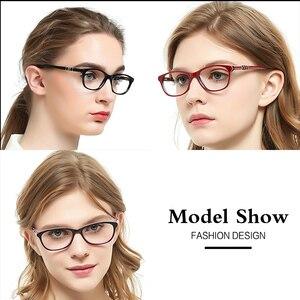Image 4 - OCCI CHIARI נשים של מסגרות משקפיים מחשב משקפיים כחול אור נשי מסגרת אופטית מחזה מרשם קטן גודל OC7061