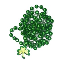 Irish St Patrick's Day Jewelry For Women Patrick's Day Decoration Supplies Jewellery Green Plating Plastic Necklace Kids Adult(China)