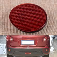CITALL czerwony prawy tylny zderzak okrągłe reflektory lekkie paski odblaskowe pasuje do Nissan QASHQAI 2007 2008 2009 2010 2011 2012-2015