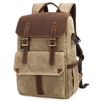 Outdoor Waterproof Photography DSLR Camera Backpack Wax Dye Canvas Video Digital Photo Bag Case New Design