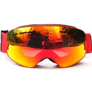 Image 3 - ילדי סקי משקפי UV400 אנטי ערפל כפול שכבות סקי מסכת משקפיים סנובורד החלקה Windproof משקפי שמש ילדים סקי משקפי
