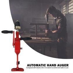 Gorąca sprzedaż korba ręczna maszyna do gwintowania drewna trwała wiertarka ręczna aluminium narzędzie do wiercenia drewna studenci umiejętności eksperymenty narzędzie w Zestawy narzędzi ręcznych od Narzędzia na