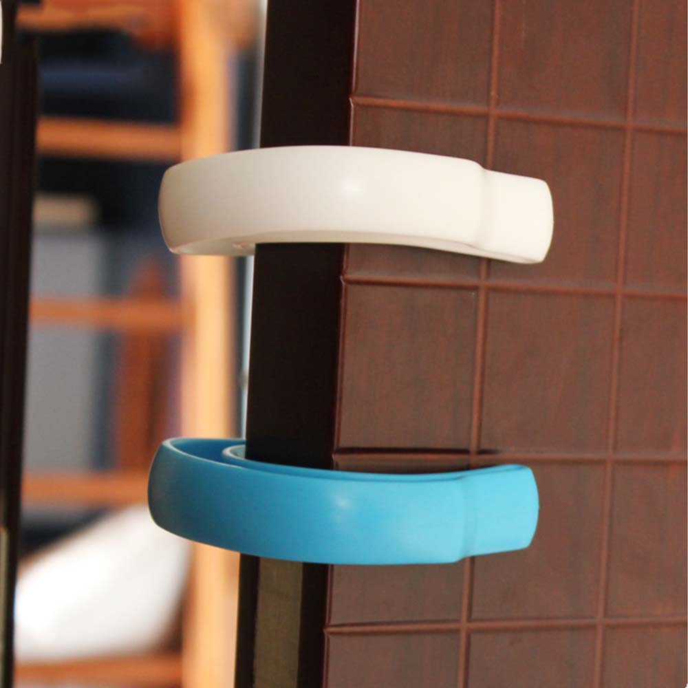 2 Pcs U Shape Door Guard Stopper Baby Safety Jammer Door Stop Plastic Anti Finger Kid Children Care Protection Stopper Clip