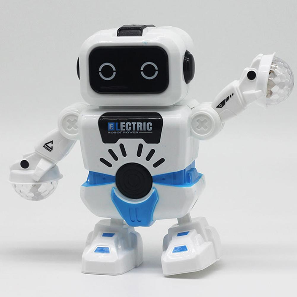 Electric Dancing Robot With Flashing LED Music Interactive Childern Toy Gift Intelligence Developmental Toy Gift For Children