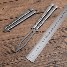 Butterfly-3cr13mov blade knife C-056 training swing knifes steel handle CS GO butterfly in knifes training sanding knives
